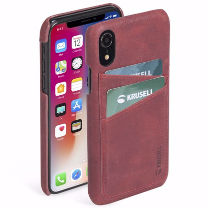 Picture of Krusell Krusell Sunne 2 Card Cover Case for Apple iPhone XR in Red