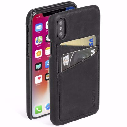 Picture of Krusell Krusell Sunne 2 Card Cover Case for Apple iPhone XS/X in Black