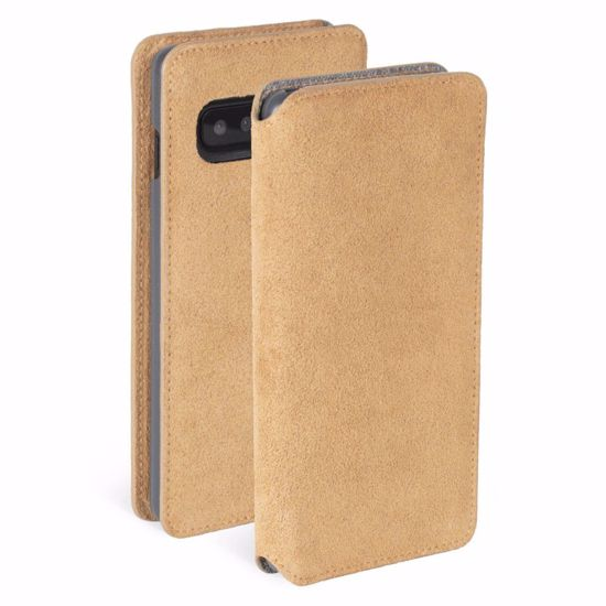 Picture of Krusell Krusell Broby 4 Card Slim Wallet Case for Samsung Galaxy S10+ in Cognac