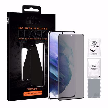 Picture of Eiger Eiger Mountain BLACK Curved Anti Spy Privacy Glass Screen Protector for Samsung Galaxy S21