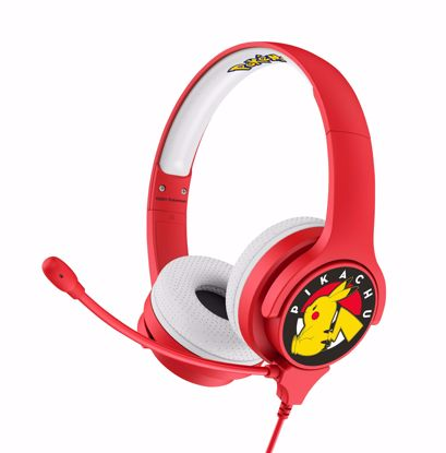 Picture of OTL OTL Pokemon Interactive Headphones with Boom Microphone - Pikachu in Red